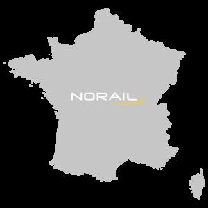 Carte de France avec le logo Norail